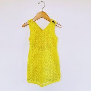 Genuine Kids OshKosh | Bright Yellow Eyelet Dress